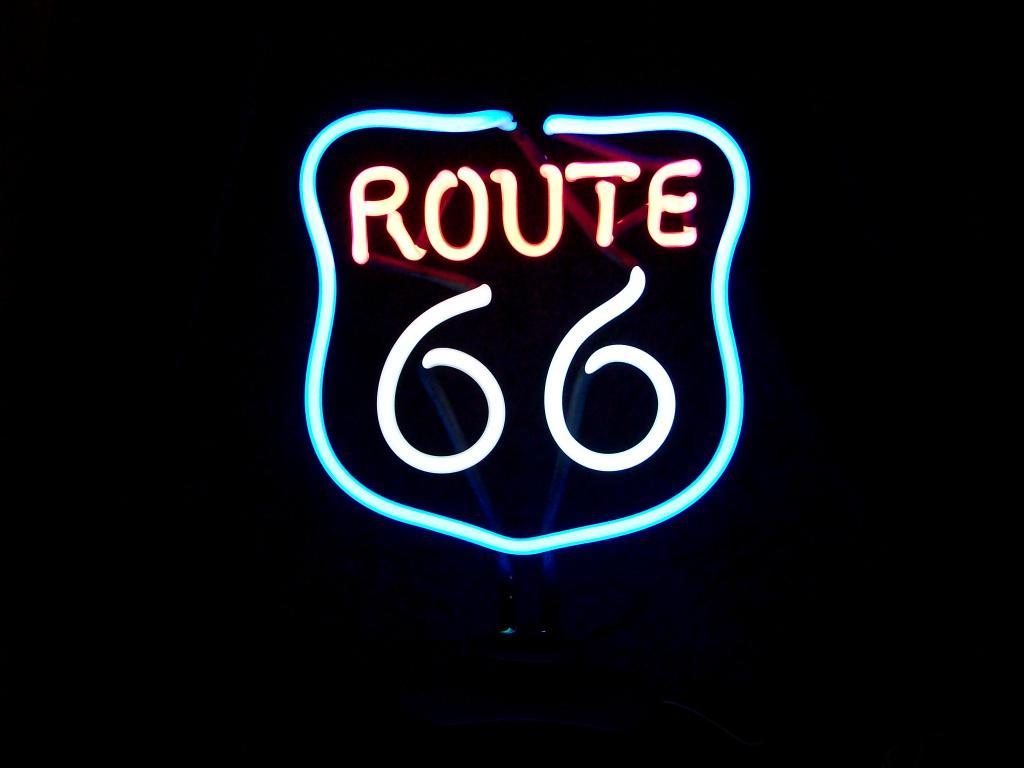 Route 66 Neon - Retrogeschenk