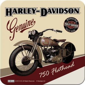 Metal Coaster Harley-Davidson Flathead Single