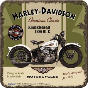 Metal Coaster Harley-Davidson Knucklehead Single